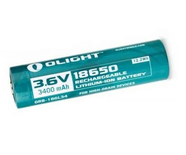Olight 3400mAh 18650 protected Li-ion rechargeable battery ORB-186L34